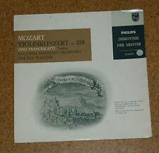 """LP Record 10"""" Violin Concerto Mozart Francescatti KV 218 Philips mono Walter"""