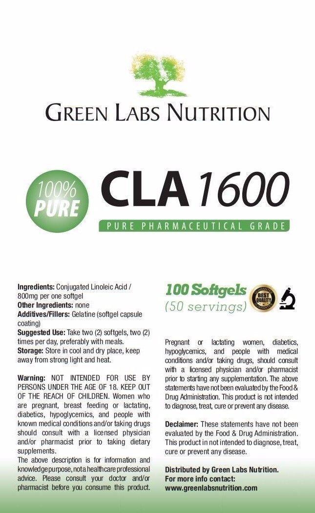 CLA mg 1600 mg CLA 100 Softgels Weight Loss fc16b8