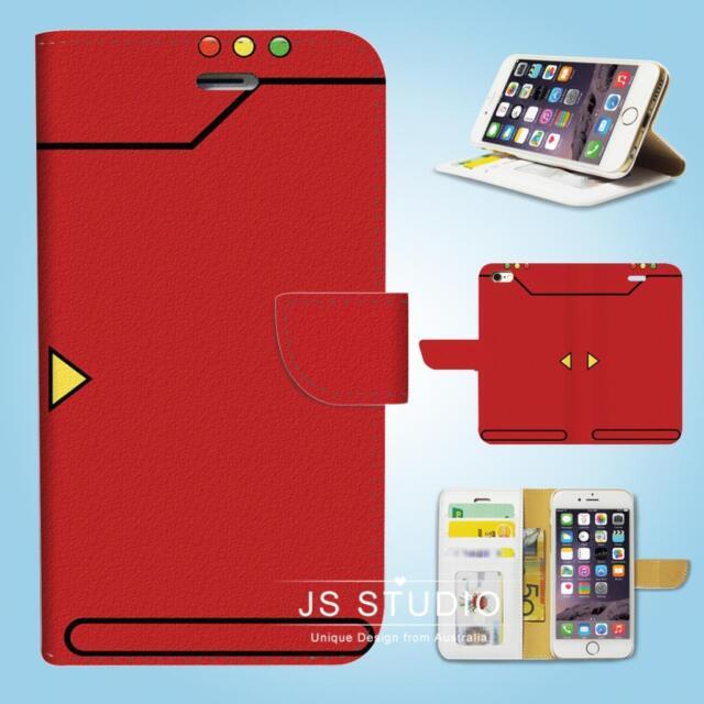 iPhone SE 6 6S 7 8 X Plus 5 5S 5C 4 4S Wallet Case Cover Pokemon Pokedex W083