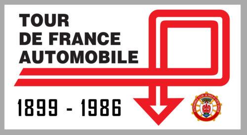 AUTOCOLLANT STICKER VINTAGE RALLYE TOUR DE FRANCE AUTO 22cmX12cm TA089