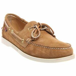 Sebago-Crest-Dockside-2-Eye-Men-039-s-Sand-Suede-Boat-Shoe-NW-OB