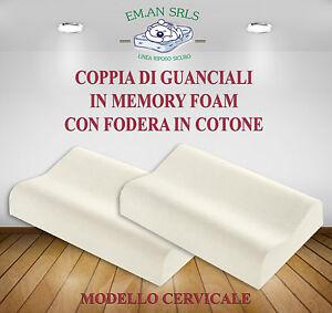 Guanciale Memory Foam Prezzo.Dettagli Su Cuscini Guanciali Memory Foam H12 13 Modello Cervicale Coppia 2pz Miglior Prezzo