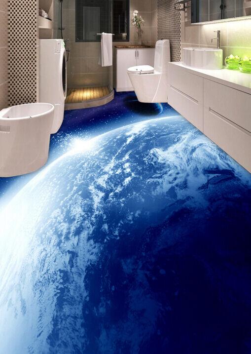 3D Earth Planet Sky 732 Floor Wall Paper Murals Wall Print AJ WALLPAPER UK Lemon
