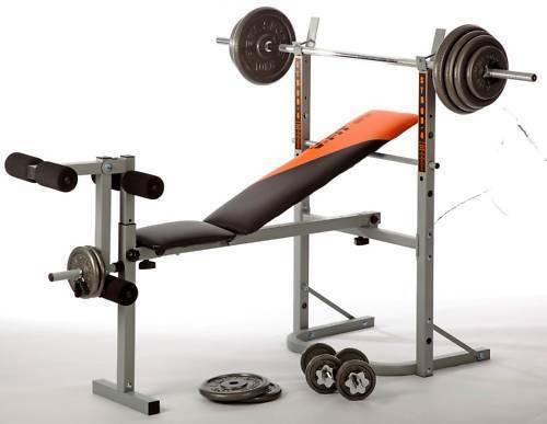 V Fit Stb09 1 Folding Weight Bench With 50kg Cast Iron Set R P