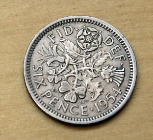 GREAT BRITAIN    6 Pence   1954   COMBINED SHIPPING
