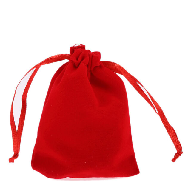 lot of 10pcs red Jewelry Pouches Velvet Gift Bags Wedding Favors 7*9cm