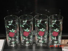 Princess House ORCHARD MEDLEY Beverage Glasses-Set of  4 - BNB w/Papers