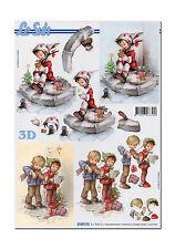3D Bogen Motivbogen Etappenbogen Bastelbogen 3D Bild Kinder im Winter (050)