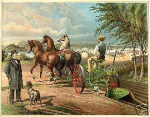 John Deere Admiring His Gilpin Plow, Moline, IL poster