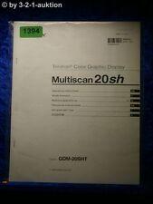 Sony Bedienungsanleitung GDM 20SHT Multiscan 20sh Graphic Display (#1394)