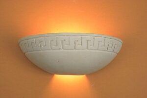 Lampada da parete artigianale in pietra leccese applique grecia