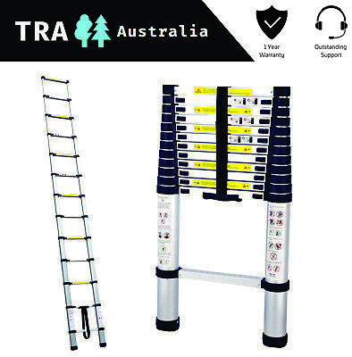3.8m Portable Telescopic Roof Top Tent Ladder with Carry ...