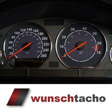 """Tachoscheibe für Tacho BMW E36 Benziner """"Carbon"""" 260Km/h"""