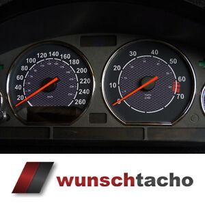 Tachoscheibe-fuer-Tacho-BMW-E36-Benziner-034-Carbon-034-260Km-h-top