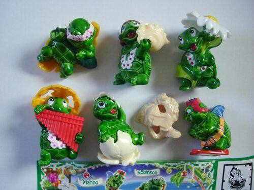 KINDER SURPRISE SET HAPPY TURTLES ISLAND TARTALLEGRE 2013 FIGURES COLLECTIBLES