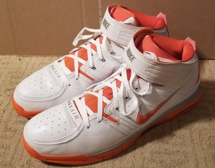 Nike air arancio 312272-181 bianco / arancio air ritmo max sz 18 basket a + + grande, ragazzi! ffdb4d