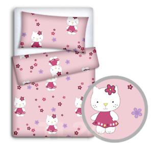 Bebé Cama Set 120x90 Funda de Almohada Funda Nórdica 2PC ajuste Cuna 120x60 Hello Kitty
