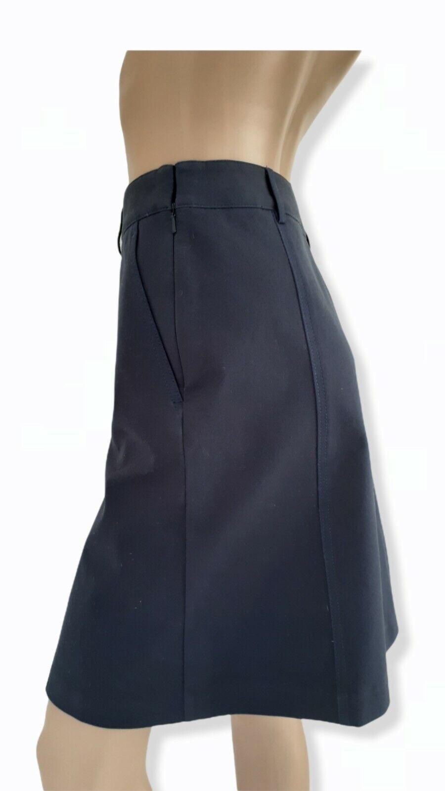 J McLaughlin Teal Button Front A Line Skirt Size 2 - image 2