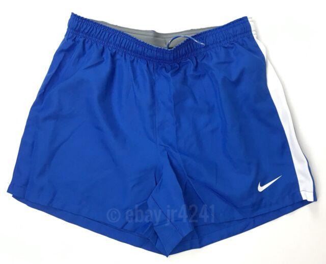 b5c8231d New Nike Women's M Classic Training Short Dri-Fit Blue White $35 Running  Soccer