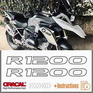 2x-R1200-Grey-BMW-R-1200-GS-13-17-LC-ADESIVI-PEGATINA-STICKERS-AUTOCOLLANT
