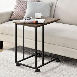 Tavolino Con Le Ruote.En Casa Tavolino Con Ruote Scrivania Portatile Metallo 50x35x60cm