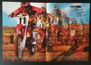 Vintage Ad Poster 2000 Ezra Lusk Honda CR250R Motocross Supercross