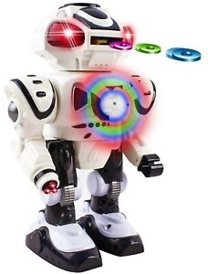 Walking-Android-Toy-Robot-With-Shooting-Disc-Flashing-Lights-And-Sound-Action-W