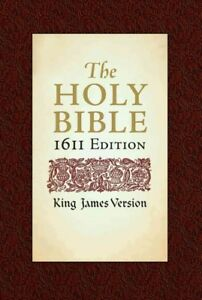 Holy-Bible-King-James-Version-Bonded-Leather-1611-Edition-Hardcover-Bra
