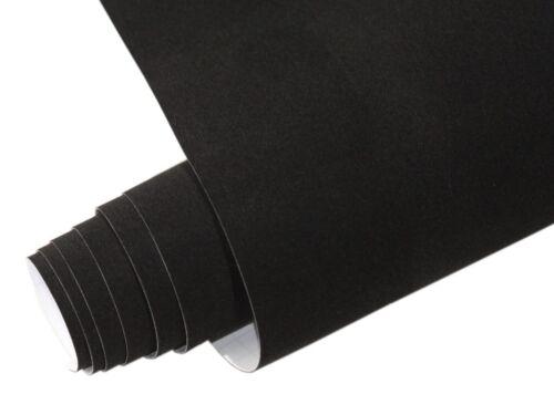 Velvet velourfolie Self Adhesive Black 10 Metre X 135cm Velvet Matte