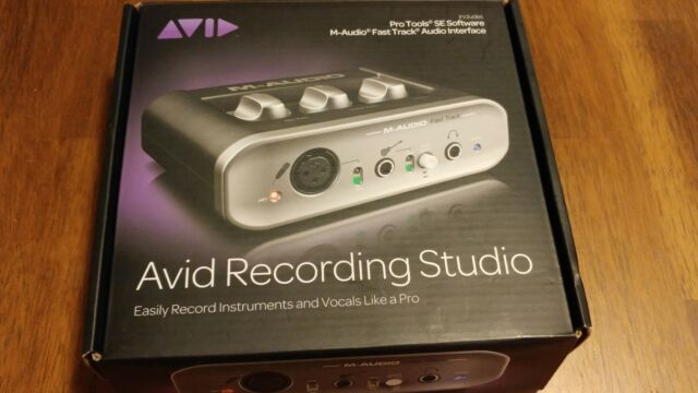 M-Audio Fast Track Avid (Pro Tools SE  software).USB Digital Recording Interface