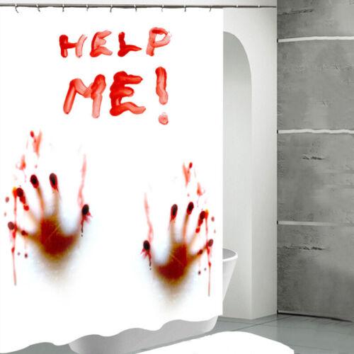 Halloween Horror Blutige Badezimmer Dusche Vorhänge Whirlpool Wasserfest Dekor
