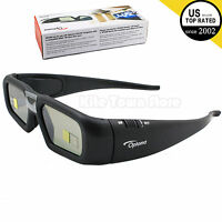 Original Optoma Projector Rechargeable Active Shutter 3d Glasses Zf2300