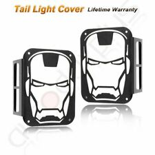 2pcs Tail Light Cover Rear Lamp Guard Protector For 2007 2018 Jeep Wrangler Jk Fits Jeep