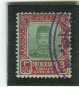 Malaya-Trengganu-Stamps-Scott-17-Used-VF-X6854N