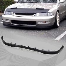 1996-1997 Honda Accord Type-R Style Black Polyurethane Front Bumper Lip Spoiler