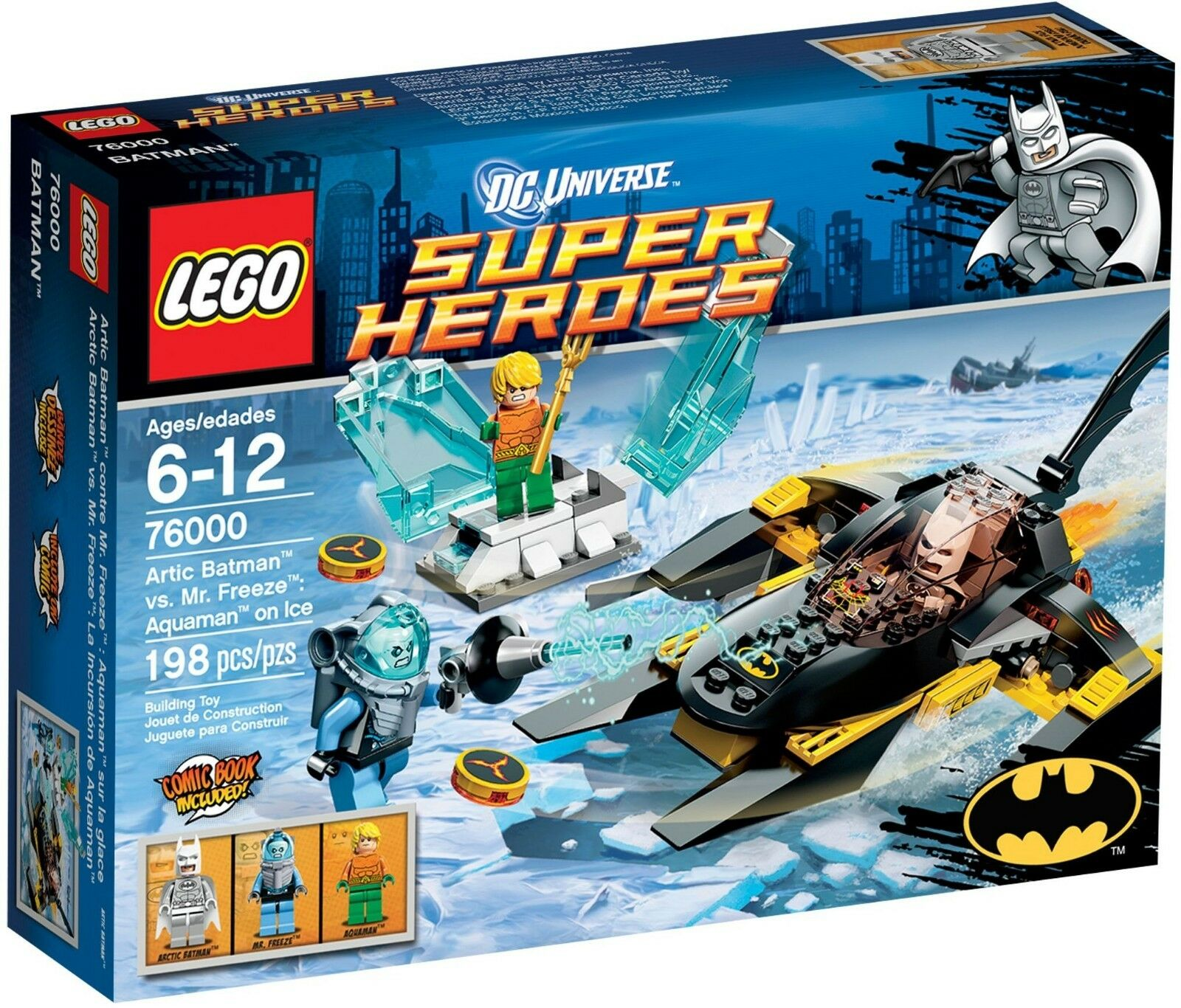 LEGO 76000 Arctic Batman vs Mr Freeze Aquaman on Ice BRAND NEW SEALED