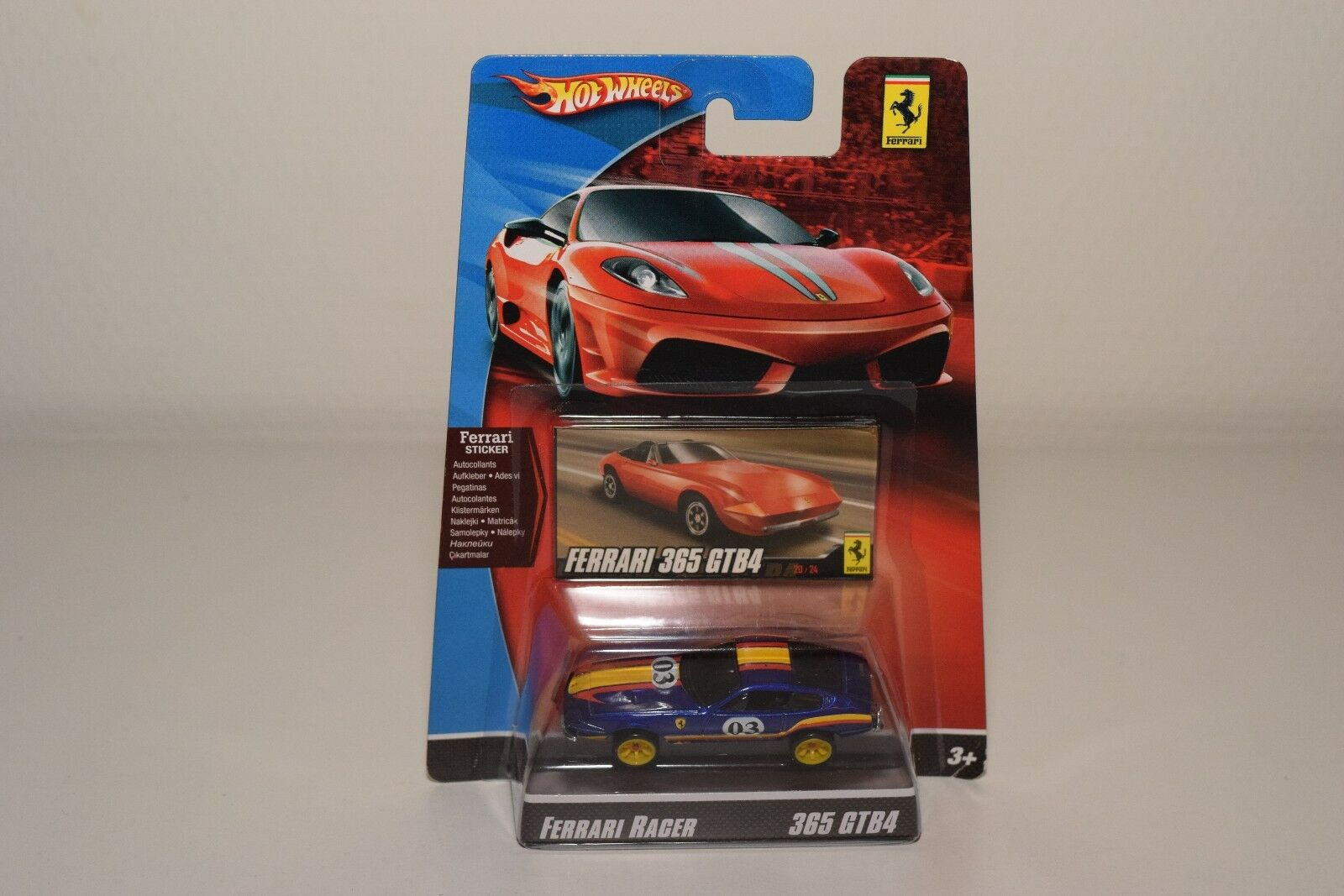 V 1 64 HOTWHEELS RACER FERRARI 365 GTB4 RALLY blu MINT BOXED ON CARD RARE