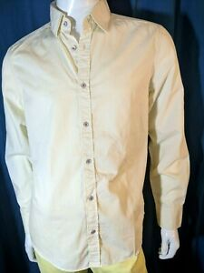 JULES FITTED Taille 4 - L Superbe chemise manches longues jaune pastel  homme