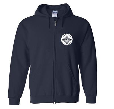 Eastern Airlines Retro Logo Full Zip Hoodie US Aviation Travel Hooded Sweatshirt