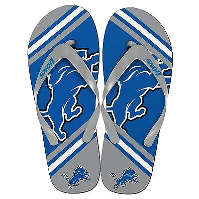 Detroit Lions NFL Football Team Big Logo Unisex Beach Flip Flop Sandals