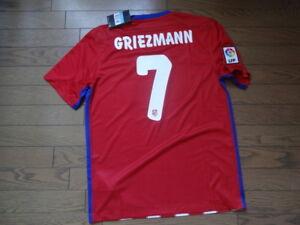 607d9fdc39e Atletico Madrid  7 Griezmann 100% Original Jersey M 2015 16 Home Kit ...