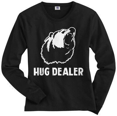 Hug Dealer Women/'s Racerback Tank Top Funny Saying Love Bear Gift