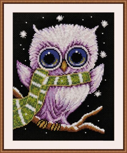 """Counted Cross Stitch Kit OVEN 861 /""""Owlet/"""""""