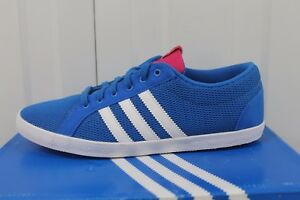 reputable site 3b666 453e9 Image is loading Womens-ADIDAS-BUTTER-FLIP-LOW-BLUE-TEXTILE-CASUAL-