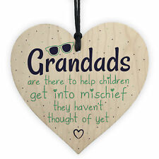 Funny Sign Grandad Birthday Gift Heart Wall Plaque Fathers Day Gifts From Kids