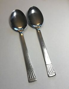 """Cambridge Stainless Steel CODIE Lot of 2 Oval Soup Spoons 7 1//4/"""""""