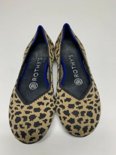Rothys Size 5 Spotted Leopard Cheetah Animal Print