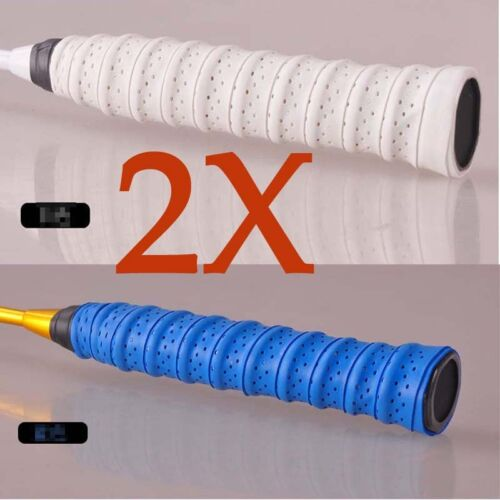 2x Stretchy Anti Slip Racket Bat Overgrip Roll Tennis Badminton Handle Grip Tape