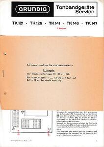 Service Manual-anleitung Für Grundig Tk 121/tk 126/tk 141/tk 146/tk 147 Produkte HeißEr Verkauf Tv, Video & Audio