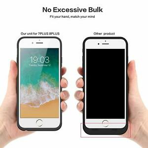 Dettagli su Batteria per iPhone 8/6S/6/7, 6000mAh Custodia Ricaricabile Cover Caricabatterie